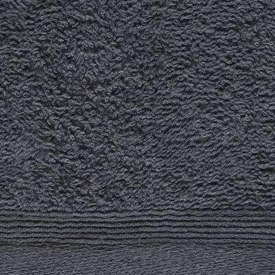 vidaXL Prosoape oaspeți, 10 buc, antracit, 30 x 50 cm, bumbac, 450 gsm