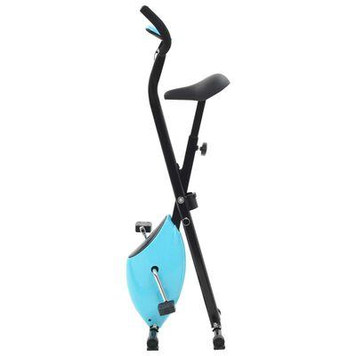 vidaXL Bicicletă fitness X-Bike cu curea de rezistență, albastru