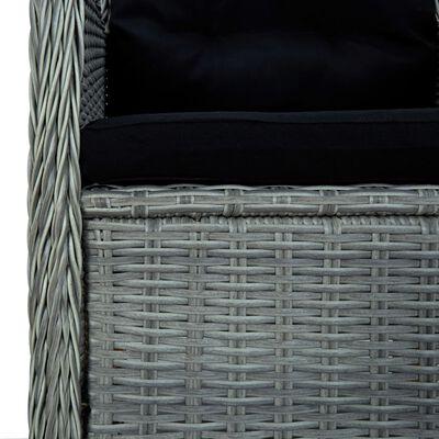 vidaXL Set de mobilier pentru grădină, 5 piese, gri deschis
