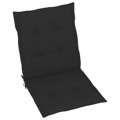 vidaXL Perne scaun de grădină, 6 buc., negru, 100 x 50 x 4 cm
