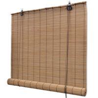 vidaXL Jaluzea Bambus, 80 x 220 cm, Maro