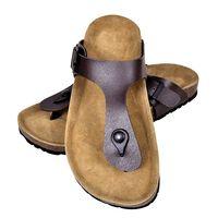 vidaXL Sandale femei din plută bio, model flip flop, maro, mărime 37