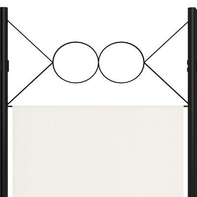 vidaXL Paravan de cameră cu 4 panouri, alb crem, 160x180cm
