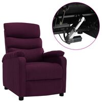 vidaXL Fotoliu rabatabil electric, violet, material textil