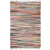 vidaXL Covor Chindi țesut manual, bumbac, 160 x 230 cm, multicolor