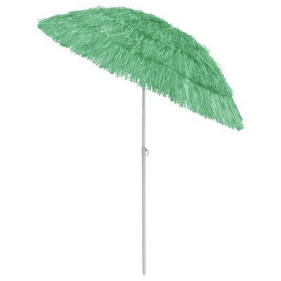 vidaXL Umbrelă de plajă, verde, 180 cm
