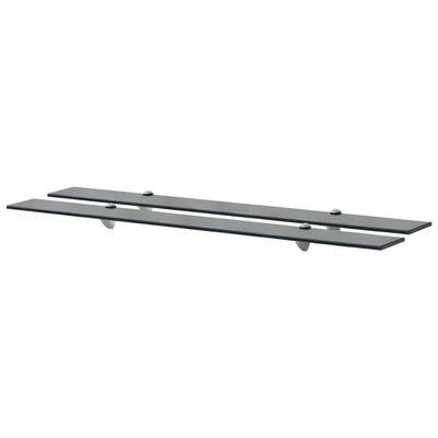 vidaXL Rafturi suspendate, 2 buc., 100 x 10 cm, sticlă, 8 mm