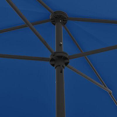 vidaXL Umbrelă de plajă, albastru azuriu, 200x125 cm