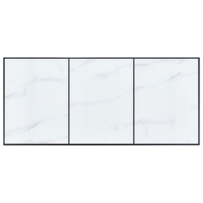 vidaXL Masă de bucătărie, alb, 200 x 100 x 75 cm, sticlă securizată