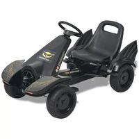 vidaXL Mașinuță kart cu șezut reglabil neagră