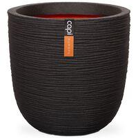 Capi Jardinieră în formă de ou Nature Rib, negru, 54x52 cm, KBLR935