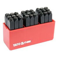 YATO Poansoane litere, 27 piese, 6 mm