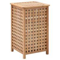 vidaXL Coș de rufe, 39x39x65 cm, lemn masiv de nuc