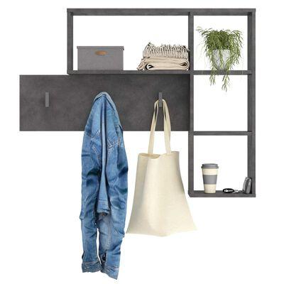 FMD Cuier haine de perete cu 4 compartimente deschise, antracit
