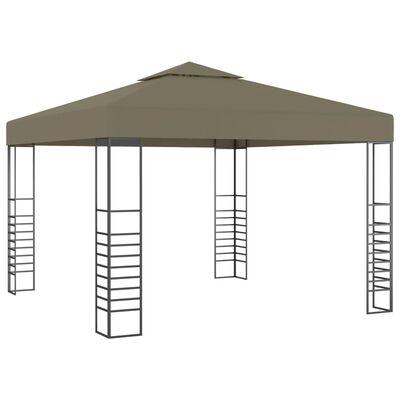 vidaXL Pavilion de grădină, gri taupe, 3 x 3 m, 180 g/m²