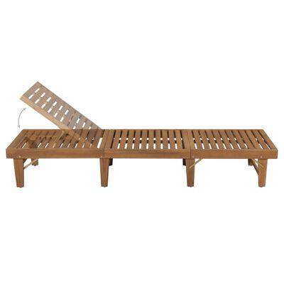 vidaXL Șezlong de plajă pliabil, lemn masiv de acacia