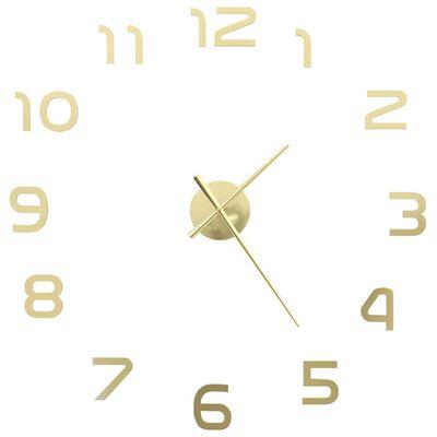 vidaXL Ceas de perete 3D, auriu, 100 cm, XXL, design modern
