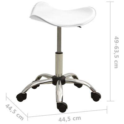 vidaXL Scaun de salon spa, alb, piele ecologică