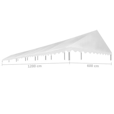 vidaXL Acoperiș pentru cort de petrecere, alb, 6 x 12 m, 450 g / m²