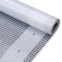 vidaXL Prelată Leno 260 g/m², alb, 2 x 5 m