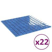 vidaXL Self-adhesive Mosaic Tiles 22 pcs Blue 30x30 cm Glass