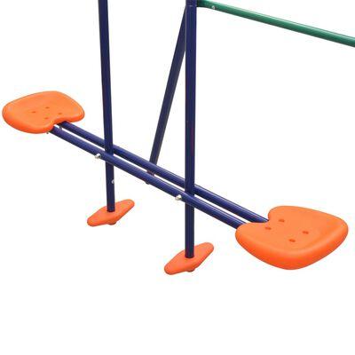 vidaXL Set de leagăne cu 4 locuri, portocaliu