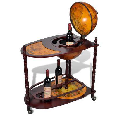 vidaXL Bar tip glob pământesc pentru vin, lemn eucalipt, independent