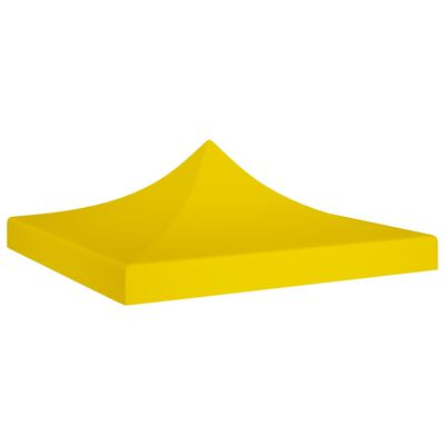 vidaXL Acoperiș pentru cort de petrecere, galben, 2 x 2 m, 270 g/m²