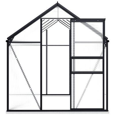 vidaXL Seră cu un cadru de bază, antracit, 5,89 m², aluminiu