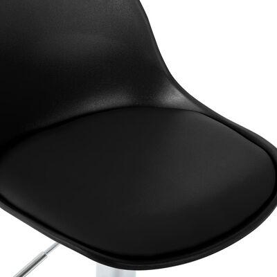 vidaXL Scaun de bar, negru, piele ecologică