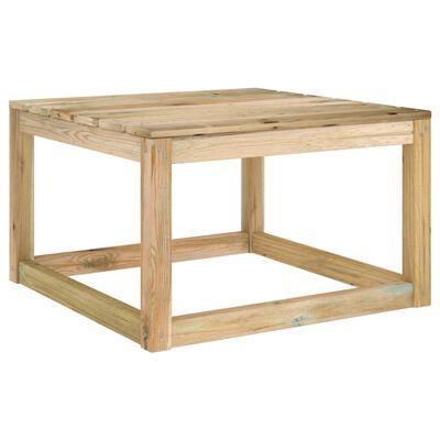vidaXL Set mobilier de grădină cu perne, 8 piese, lemn de pin tratat