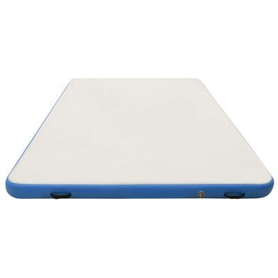 vidaXL Punte plutitoare gonflabilă, albastru și alb, 300x150x15 cm