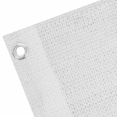 vidaXL Prelată pentru balcon din HDPE, 90 x 600 cm, alb