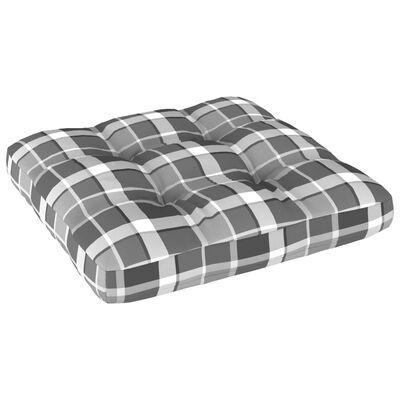 vidaXL Pernă pentru canapea din paleți, gri, 60x60x12cm, model carouri