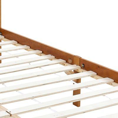 vidaXL Cadru pat cu baldachin, 2 sertare, 160x200 cm, lemn masiv pin