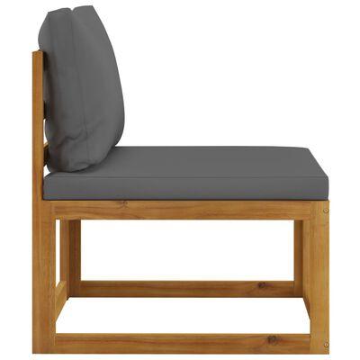 vidaXL Set mobilier de grădină cu perne, 3 piese, lemn masiv de acacia