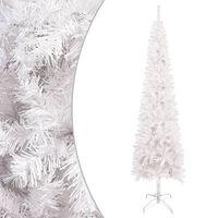 vidaXL Brad de Crăciun artificial subțire, alb, 210 cm