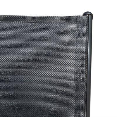 vidaXL Scaune de grădină stivuibile, 6 buc., negru, oțel & textilenă