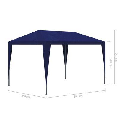 vidaXL Cort de petrecere, albastru, 3 x 3 m