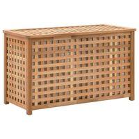 vidaXL Cufăr de rufe, 77,5x37,5x46,5 cm, lemn masiv de nuc