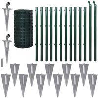 vidaXL Euro gard, verde, 25 x 0,8 m, oțel