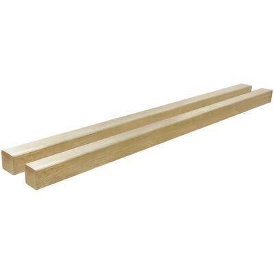 vidaXL Stâlpi de gard, 2 buc., 9 x 9 x 150 cm, lemn de pin tratat
