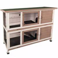 FLAMINGO Cușcă de iepuri Combi, 122 x 50 x 102 cm, 210052