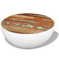 vidaXL Măsuță de cafea în formă de bol 60x60x30cm lemn masiv reciclat