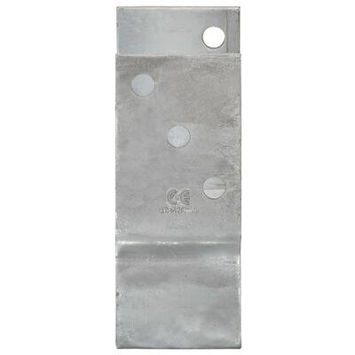 vidaXL Ancore de gard, 2 buc., argintiu, 8x6x15 cm, oțel galvanizat
