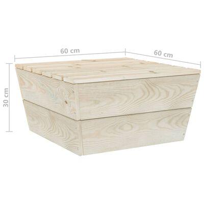 vidaXL Set mobilier grădină din paleți, 6 piese, cu perne, lemn molid
