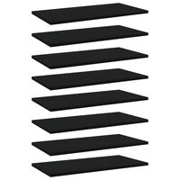 vidaXL Plăci pentru bibliotecă, 8 buc., negru, 60 x 30 x 1,5 cm, PAL