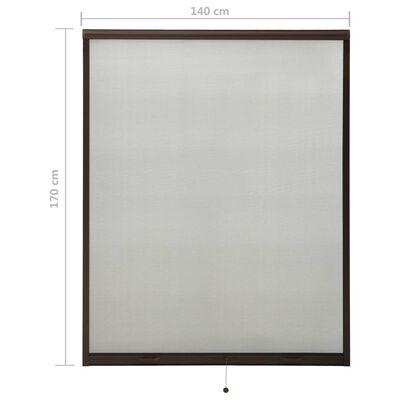 vidaXL Plasă insecte pentru ferestre tip rulou, maro, 140x170 cm