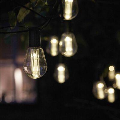 Luxform Lămpi festive acționare solară Alicante 10 LED-uri transparent,