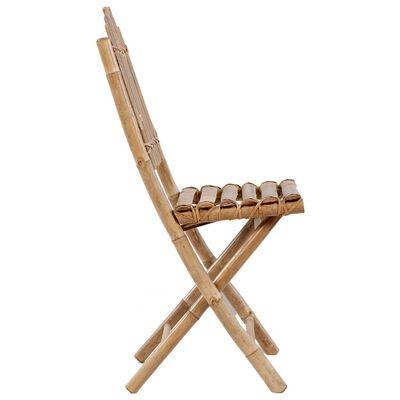 vidaXL Scaune de grădină pliabile cu perne, 2 buc., bambus